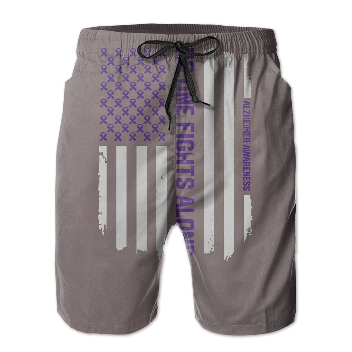 Male Shorts Causal R333 Breathable Quick Dry Humor Graphicbasketball Alzheimer S Awareness