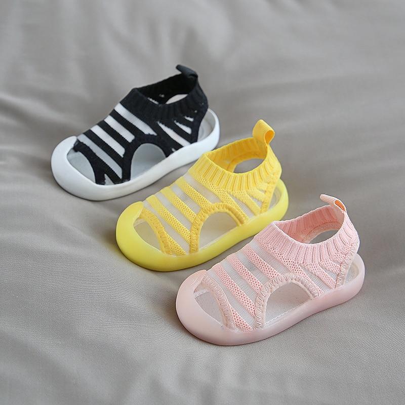 2020 Summer Baby Girls Boys Casual Shoes Infant Toddler Sandals Anti-collision Non-Slip Kids Soft Bottom Children Beach Sandals