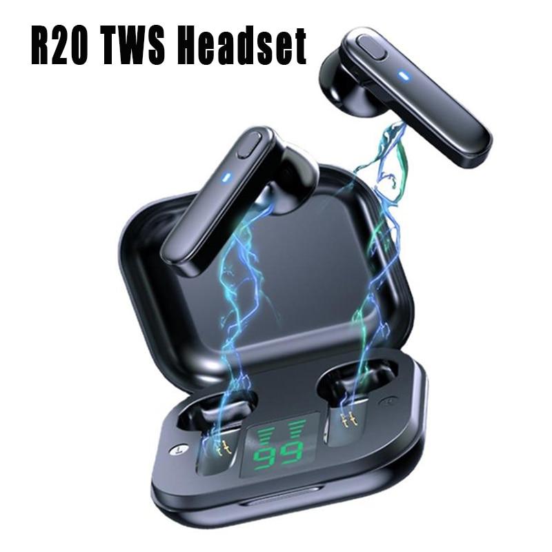 TWS Bluetooth Headphones Wireless Headset Waterproof Deep Bass Earbuds True Wireless Stereo Earphone With Mic Sport Earphone