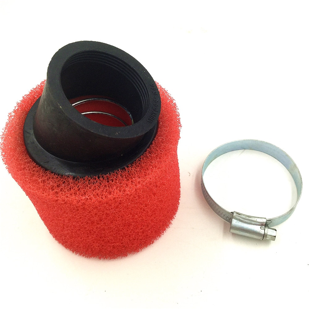 AliExpress - 32mm-48mm ATV PIT DIRT BIKE 45 Degree ANGLED FOAM Air Filter Pod Cleaner 110cc 125cc RED CRF50 XR50 CRF