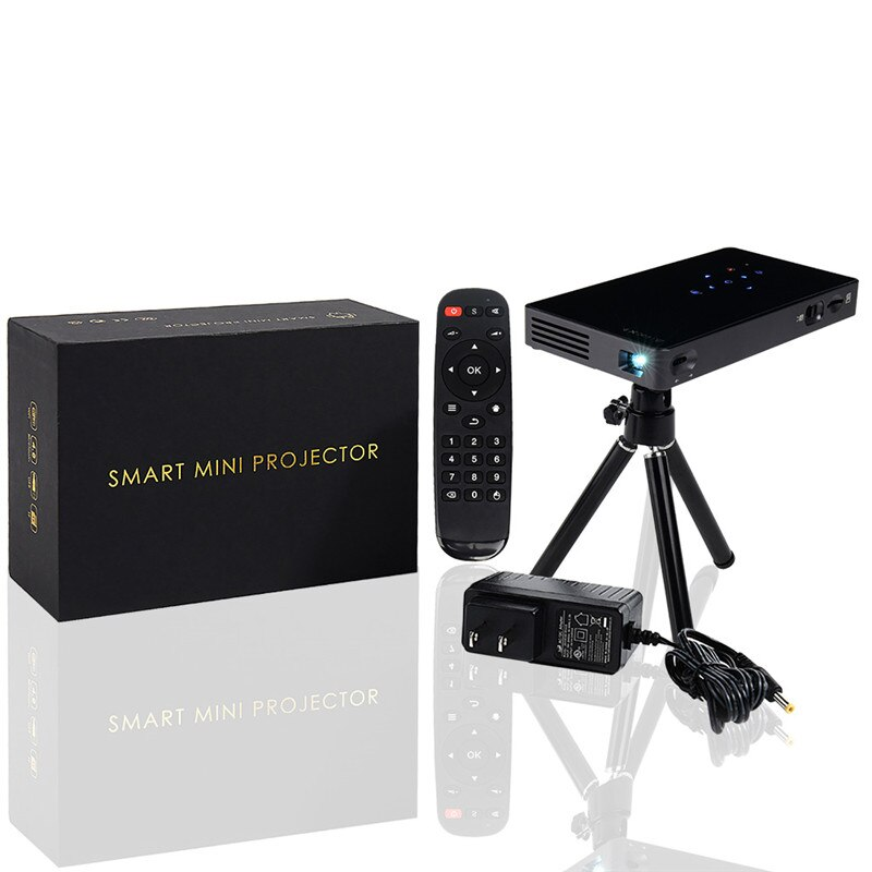 Miniproyector inteligente P8, 32GB, HD, DLP Real, con Zoom, Keystone automático, Android...