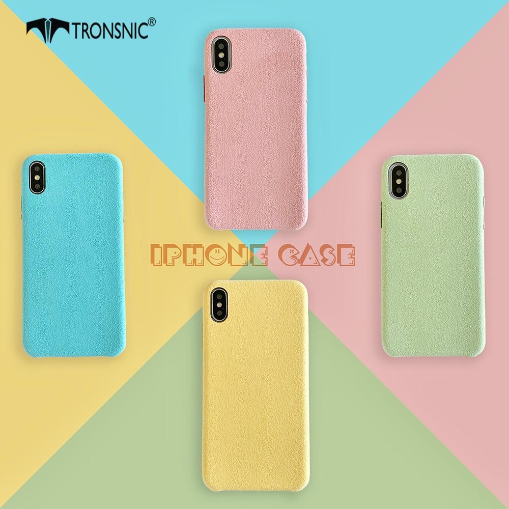 Tecido de Pelúcia De luxo Caixa Do Telefone para o iphone XR X XS MAX 6 Macio Amarelo Verde Rosa Dos Doces Caso para iPhone s 7 8 Além de Cobertura de Moda Quente