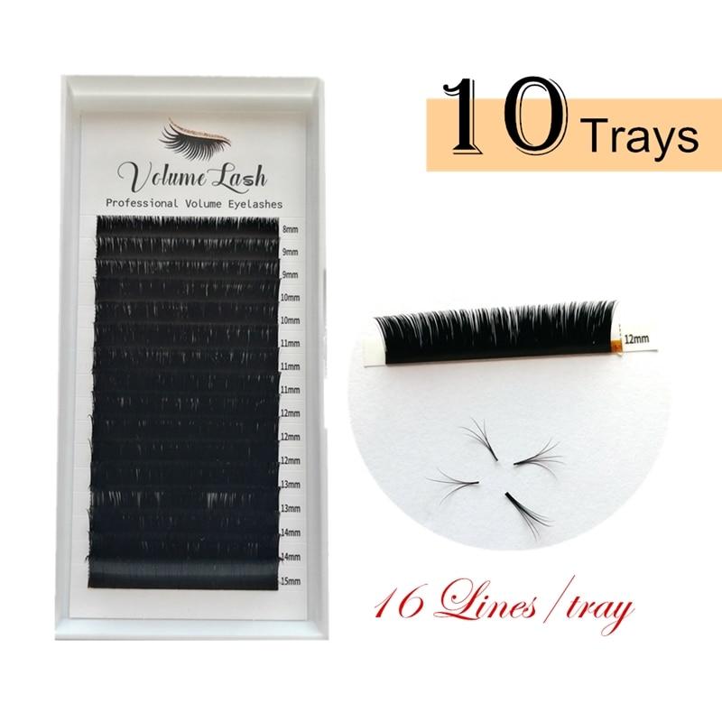 Easy Fans Eyelashes Mixed Length Auto Bloom Eyelash Extensions 3D/4D/5D/6D/7D Mink Lashes Makeup Individual Russian Volume Lash