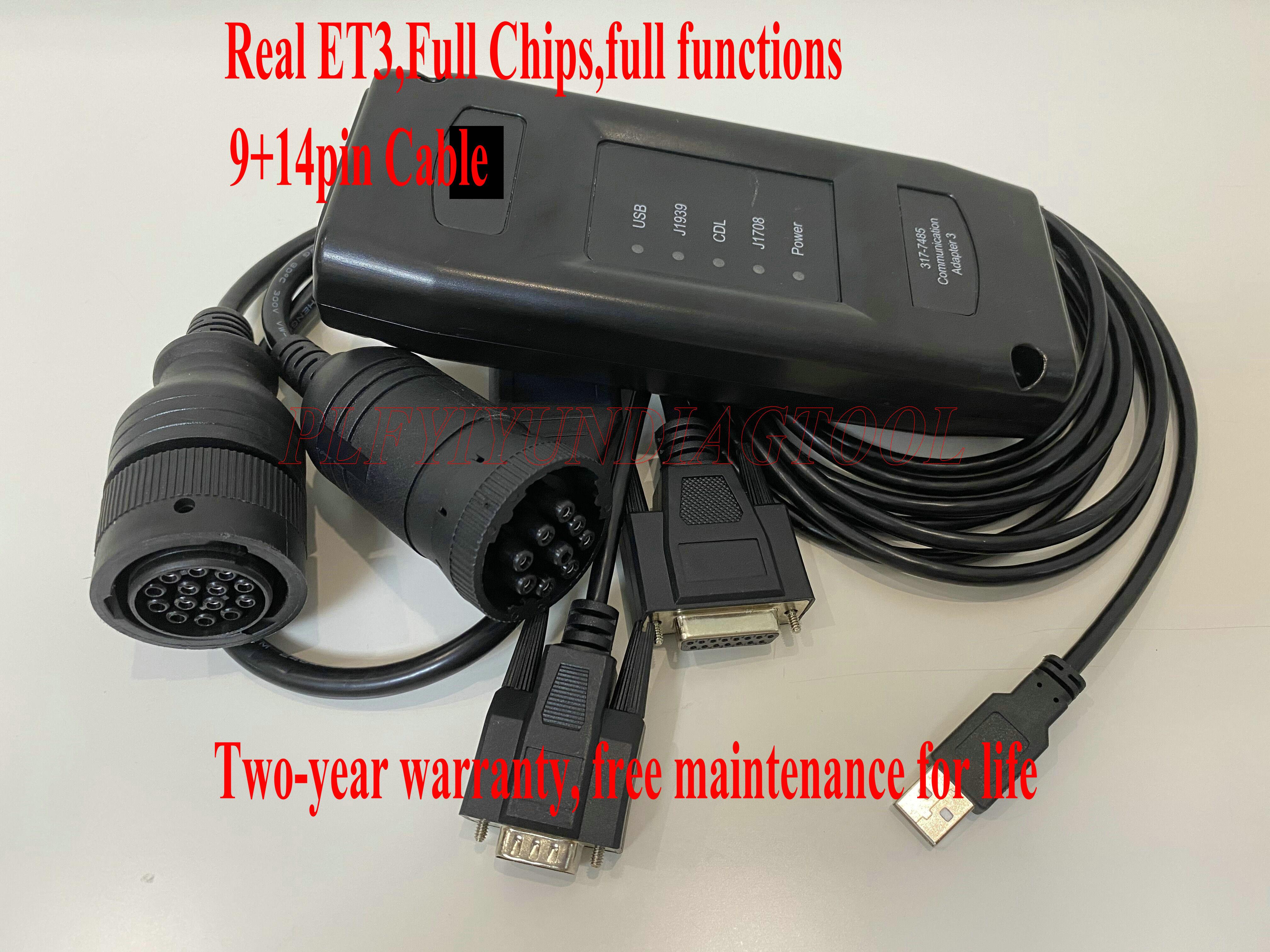 Ferramenta diagnóstica eletrônica do caminhão do adaptador iii 317-7485 da comunicação do técnico et3 comm3 para o gato vermelho et 2020a sis
