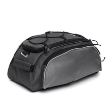 Outdoor Bicycle Back Pack Bike Rear Seat Saddle Bag Shoulder Handbag Cycling Storage Pannier Riding Travel Bag—Black Gray