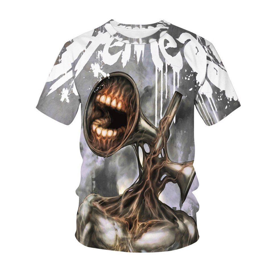 2021 Summer Kids Siren Head Clothes Boys Girls Horror Game All Saints' Day Punk T-Shirt 4-20Y Children Teens Hip Hop Tshirts