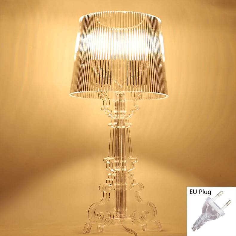 Acryl Table lamp for bedroom living room Desk lamp study crystal  art deco Beside Ghost night lights lighting  E27 Eu plug