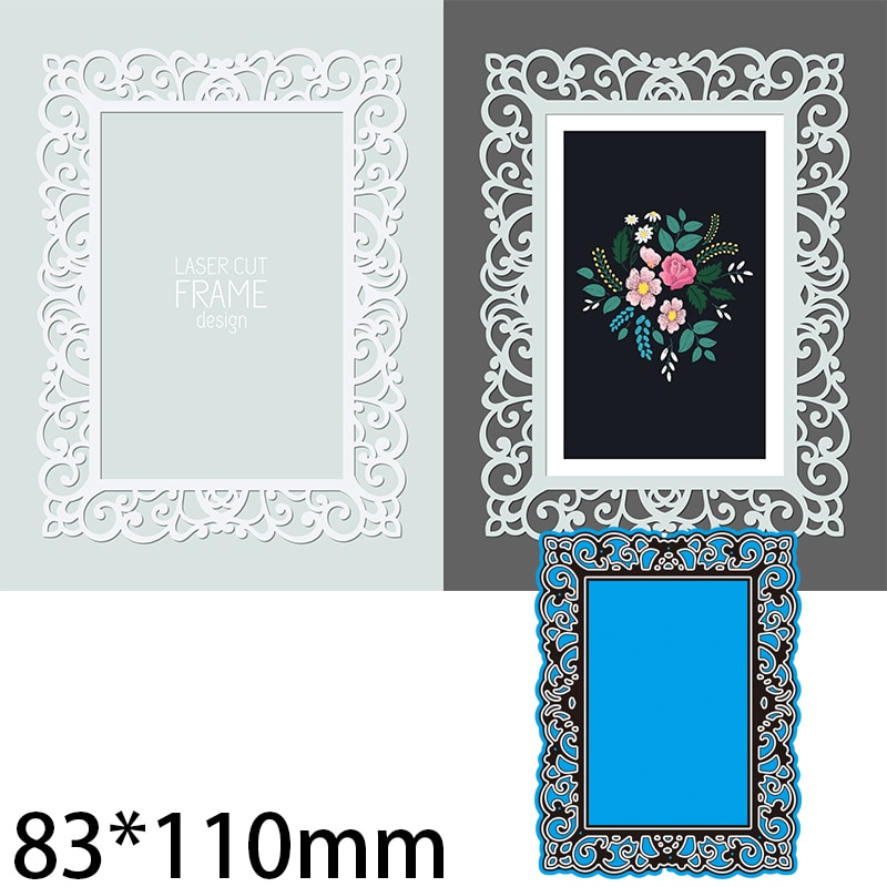 83*110mm Lace Frame Greeting Card Decorate Cutting Dies DIY Scrap Booking Photo Album Embossing Paper Cards