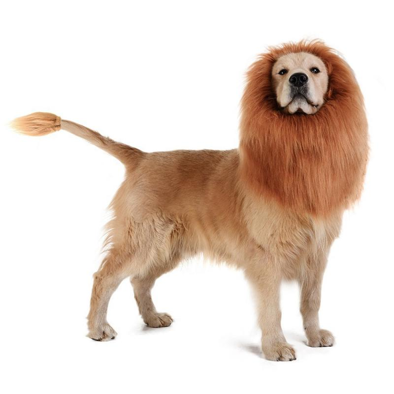 Funny Cute Pet Dog Costume Lion Mane Wig Cap Hat For Cat Dog Halloween Christmas Clothes Fancy Dress