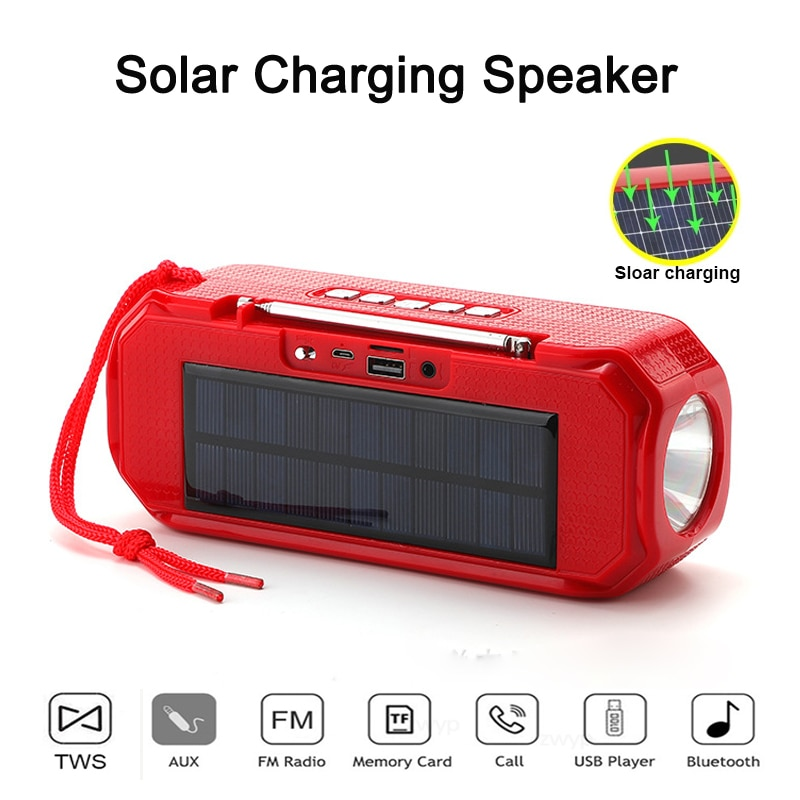 TG280 Best Selling Solar Charging Wireless Bluetooth Compatible Speaker Stereo Subwoofer Portable Outdoor Music Center 20W caixa