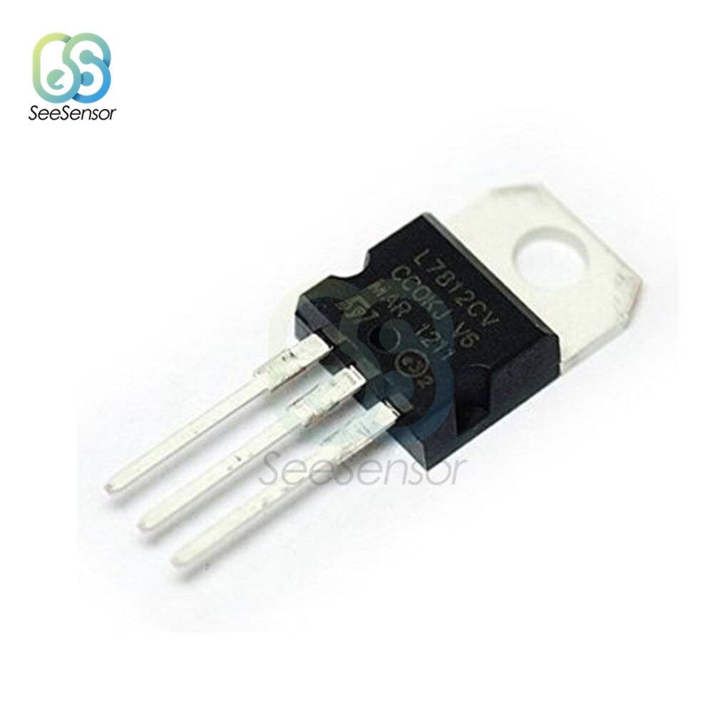 10Pcs/lot L7812CV TO-220 L7812 LM7812 7812 Positive-Voltage Regulators IC 12V 1.5A TO-220 Transistor