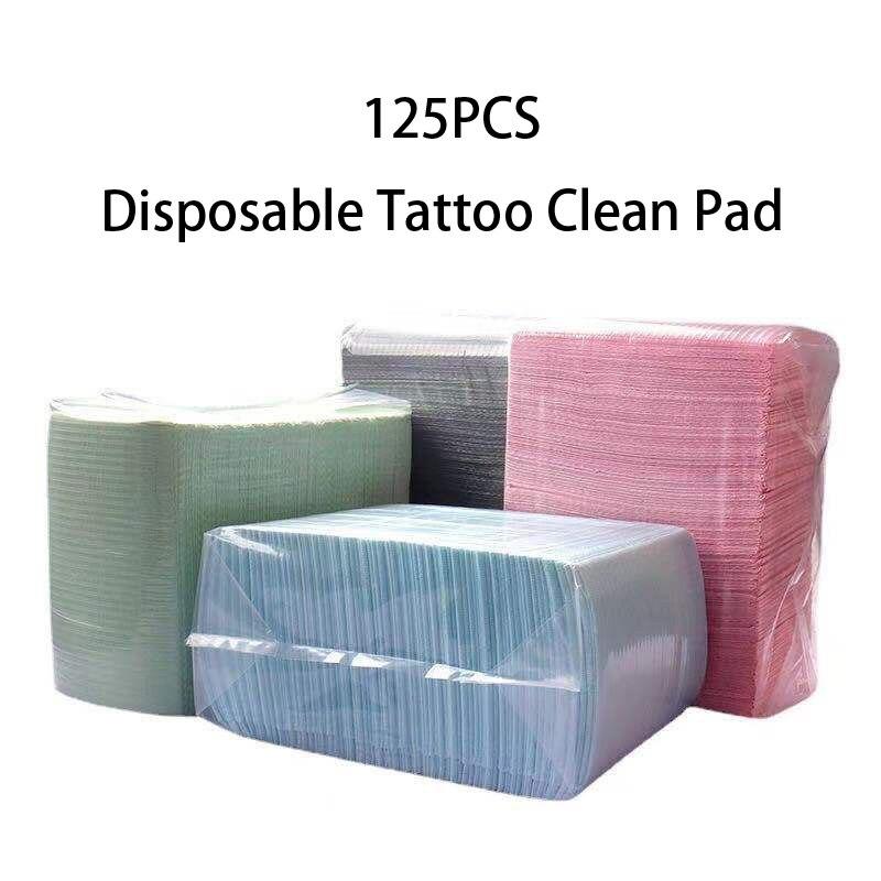 125 шт. одноразовые салфетки для тату, накладки на стол для татуировок, чистящие салфетки для пациентов, стоматологические салфетки, аксессуа...
