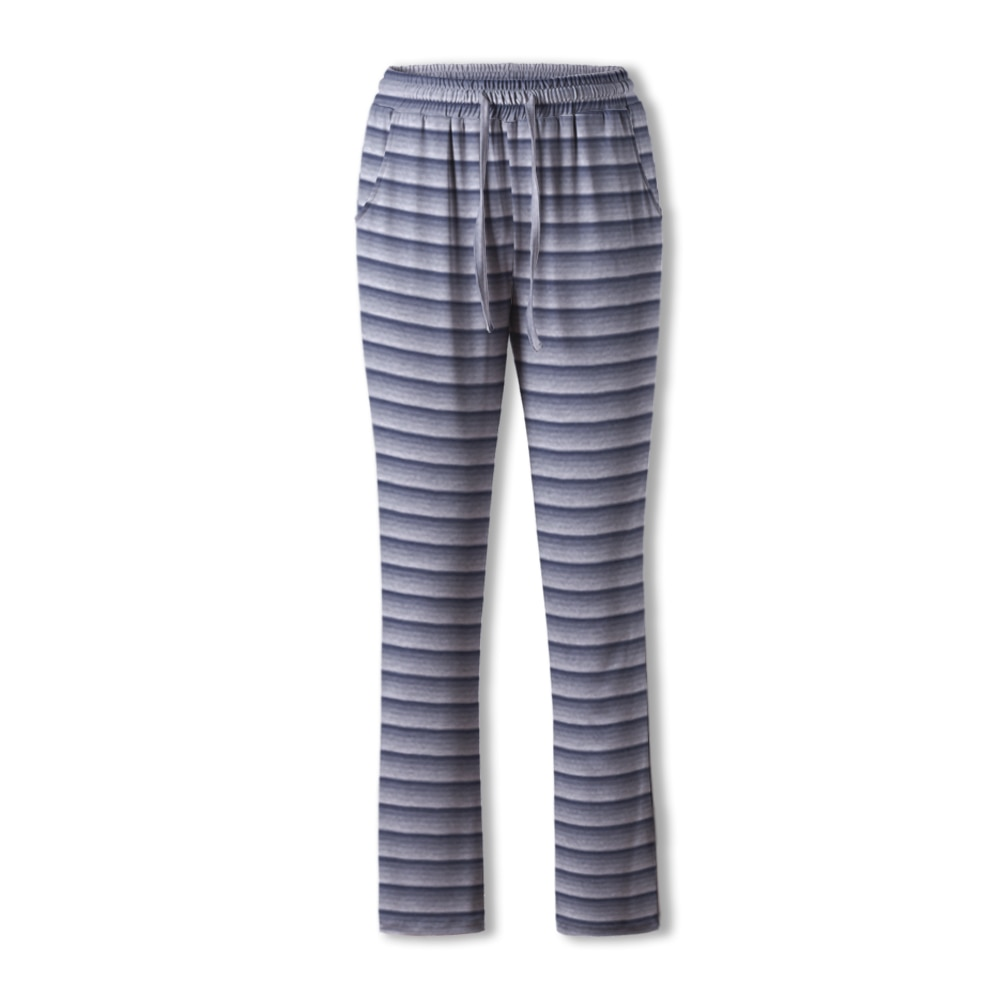 Neatie Kiddie Slpeepwear Stripe Elastic Waist Pajama Pants Women Full-length Home Lounge Clothes Spr