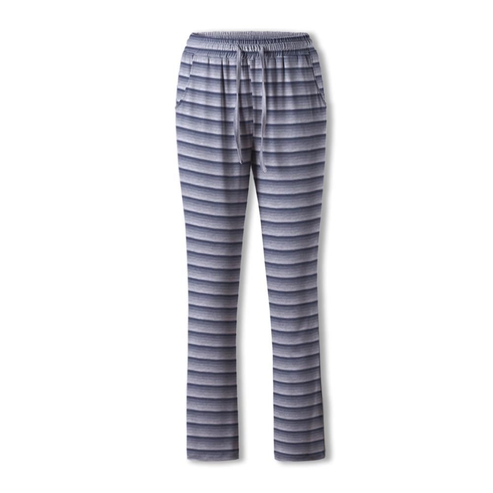 Neatie Kiddie Slpeepwear Stripe Elastic Waist Pajama Pants Women Full-length Home Lounge Clothes Spr