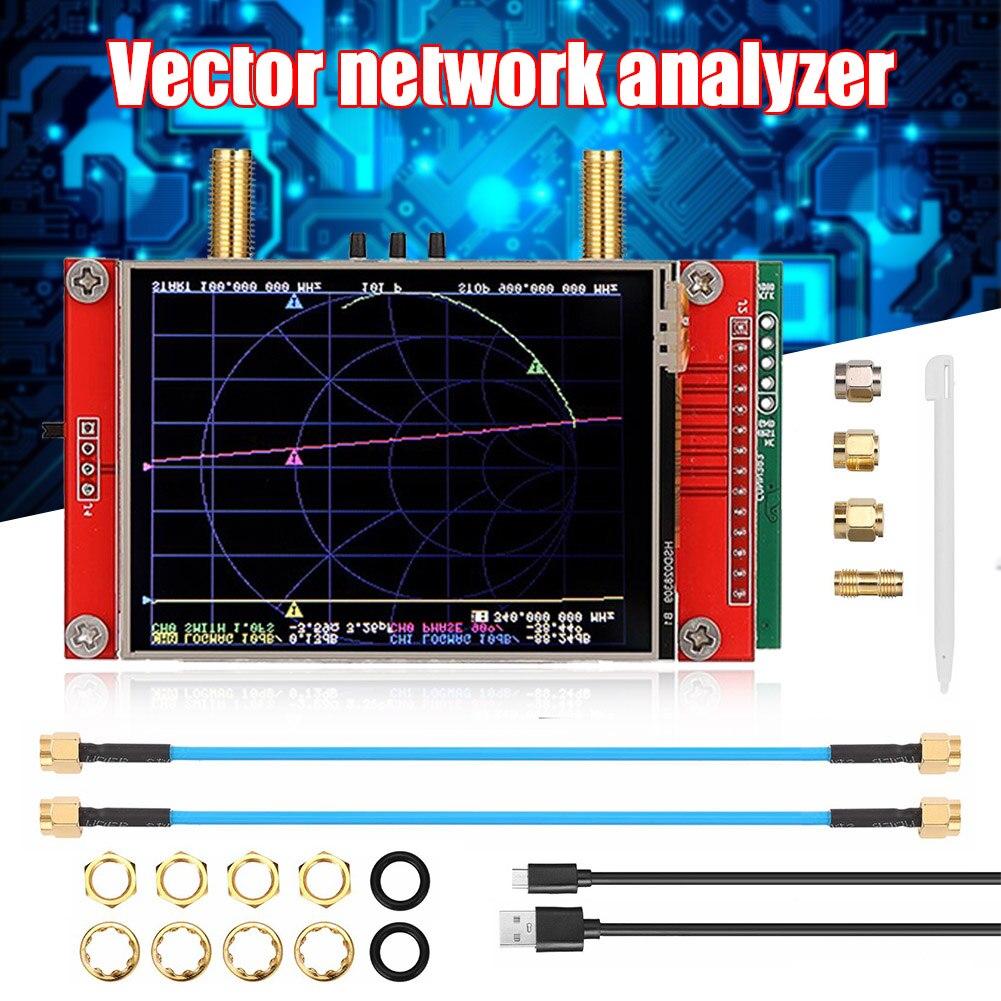 عالية الحساسية NanoVNA 3GHZ ناقلات شبكة محلل HF VHF UHF هوائي محلل MJJ88