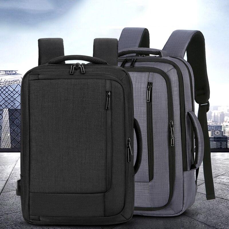 الرجال على ظهره العصرية متعددة الوظائف أكسفورد القماش محمول على ظهره USB قابلة للشحن مقاوم للماء حقيبة أعمال للرجل