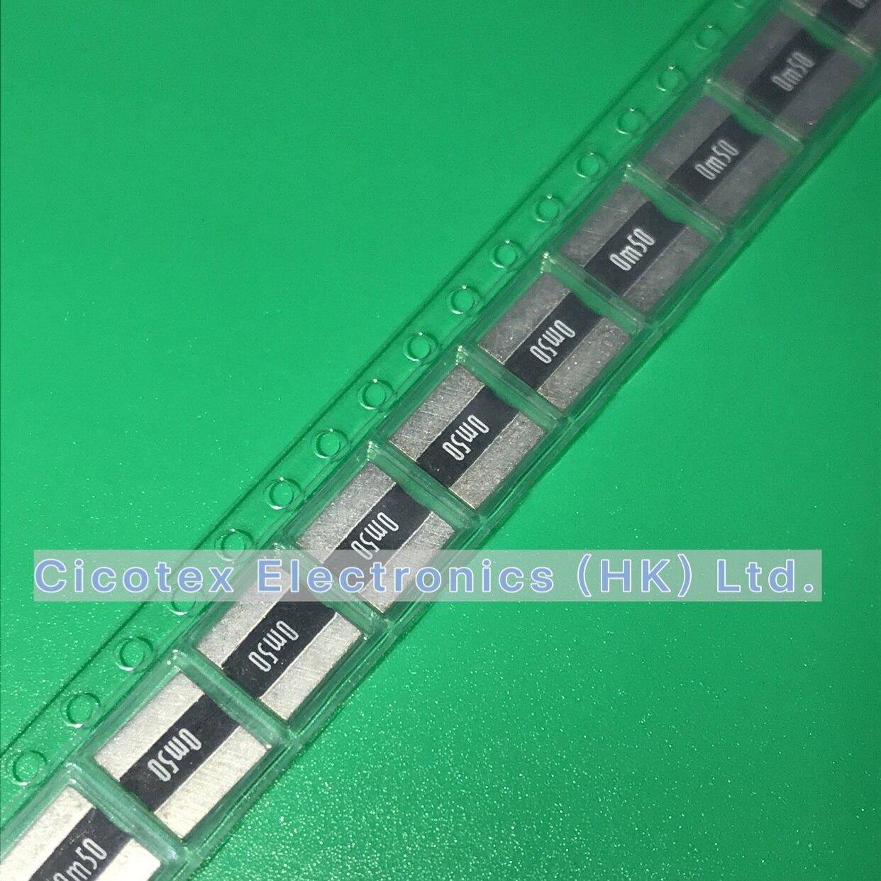 10 unids/lote LR2725-24R0005F1 SMD LR 2725-24 R0005F1 4W 1% R0005 0.0005R 0.5MR 0m50 LR2725 LR272524R0005F1 2725-0.0005RF