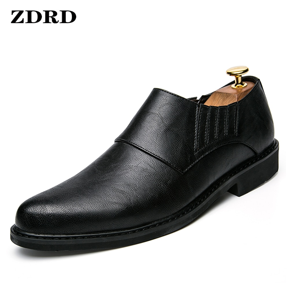 Luxury Brand Men Loafers Leather Monk Strap Pointed Toe Coffee Black Formal Daily Dress Wedding Offi