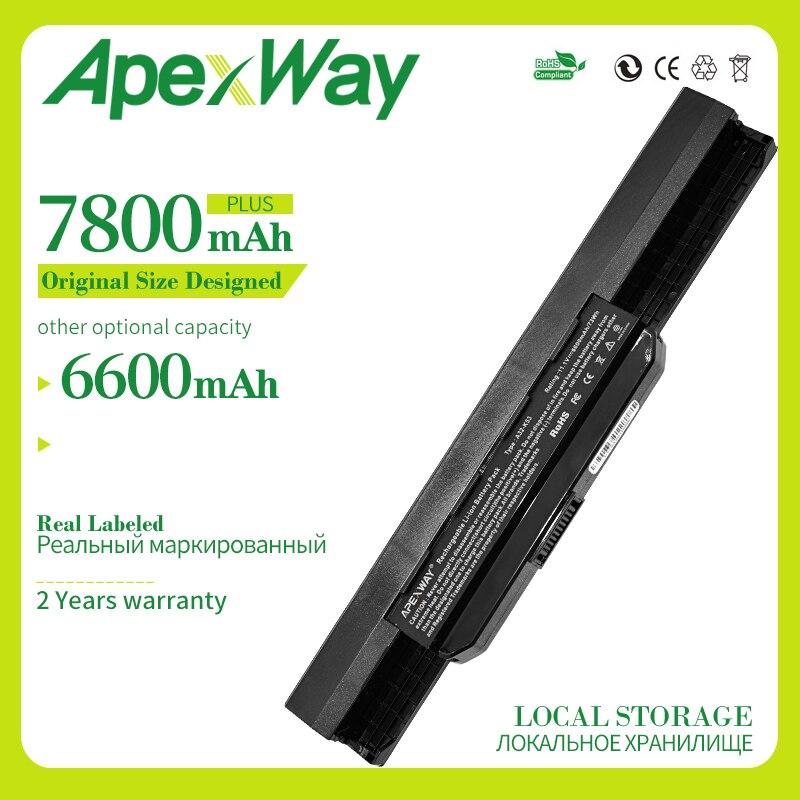 Apexway 6600mAh بطارية ل Asus A32-K53 A42-K53 K53F K53J K53S K53SJ K53SV K53T K53U A43 A53 K43 X43 X44 X54 X84 K53 K53B K53E