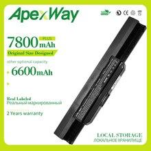 Apexway 6600mAh batterie pour Asus A32-K53 A42-K53 K53F K53J K53S K53SJ K53SV K53T K53U A43 A53 K43 X43 X44 X54 X84 K53 K53B K53E