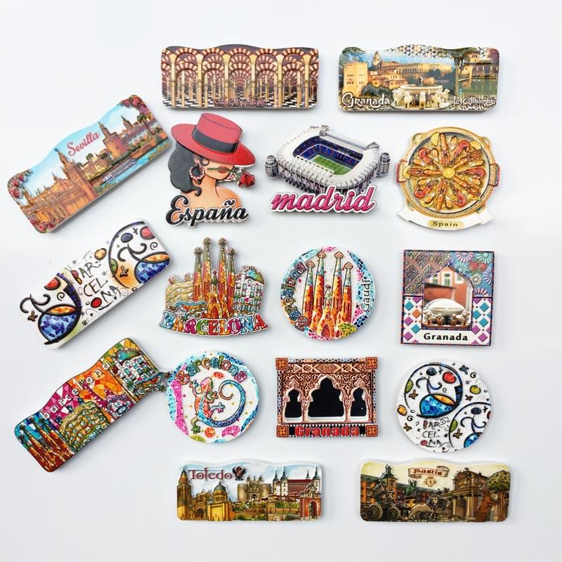 Imán de decoración para frigorífico, recuerdos de monumentos españoles del mundo y...