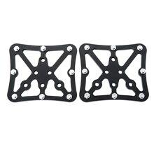 Universal bicicleta pedal adaptador plataforma ciclismo liga de alumínio clipless para shimano spd peças da bicicleta