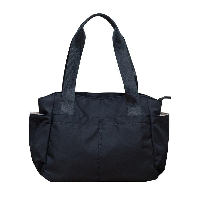 ¡Novedad de 2020! Bolso de mano de Nylon para mujer, bolso de compras reutilizable de tela coreana a la moda, bolso de hombro de viaje de gran capacidad, bolsos de comprador ecológico