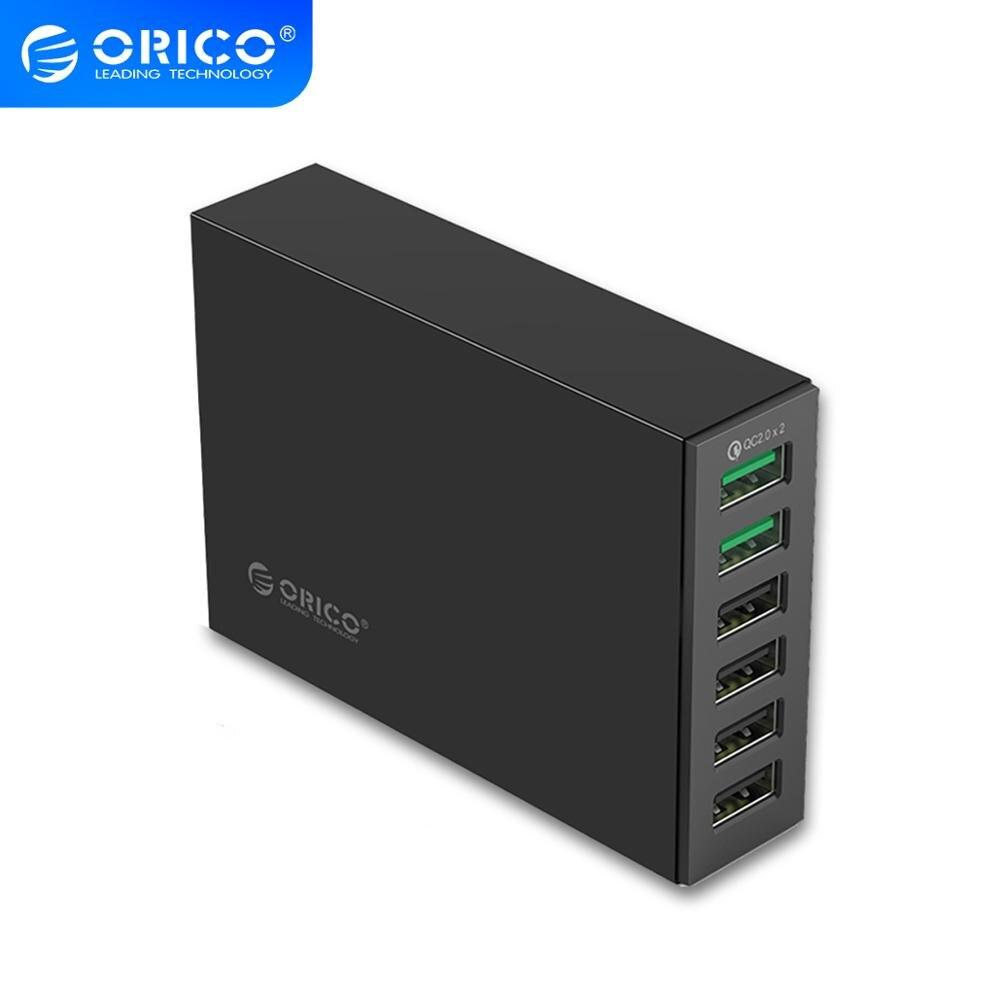 ORICO 6 منافذ USB سطح المكتب شاحن QC2.0 شحن سريع الاتحاد الأوروبي التوصيل Charegr محطة محول الطاقة لسامسونج هواوي شاومي LG آيفون