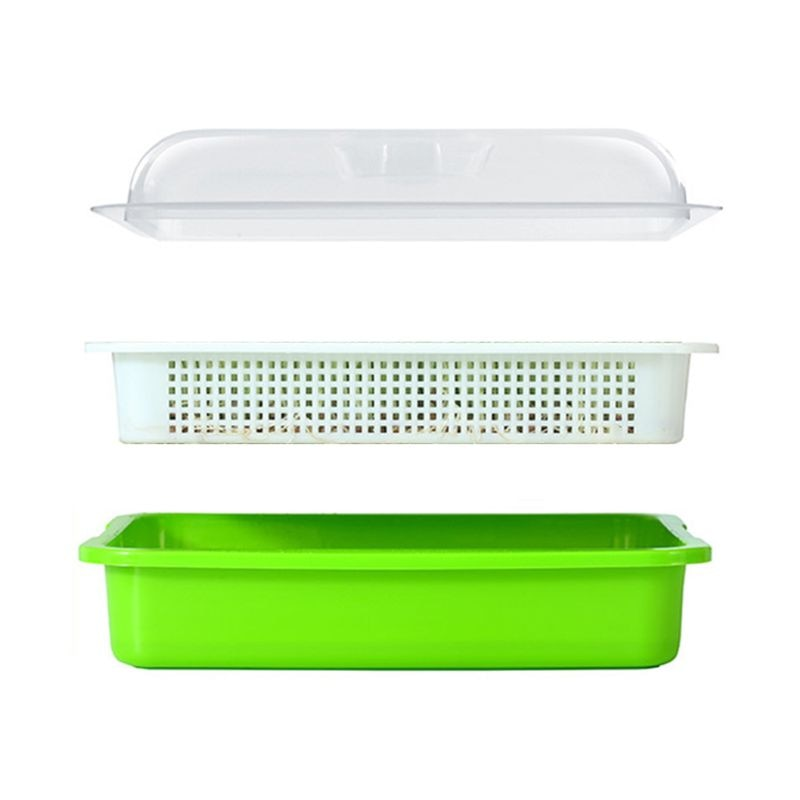 Seed Sprouter Tray BPA Free PP Soil-Free Large Capacity Healthy Wheatgrass Grower with Cover Seedlin