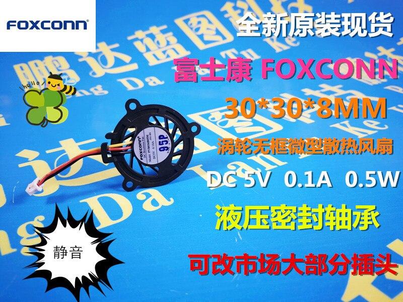 Новый foxconn PVB036B05M 3008 3 см до 5 В USB мини-карты ноутбук вентилятор охлаждения