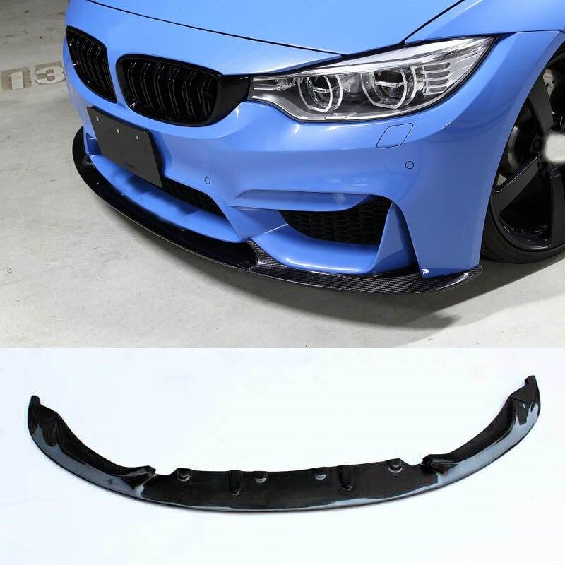 M-P Style Carbon fiber Front Bumper Lip Spoiler Splitter Fit For BMW F8X M3 M4