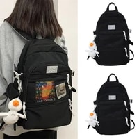 large capacity backpack for college students schoolbags women 2021 new trendy large capacity pure color japanese backpack