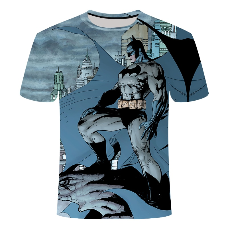 Nuevo Spiderman superhéroe 3d impreso t-shirt de hombres superman héroe batman camiseta hip hop Camiseta de manga corta Tops tamaño asiático