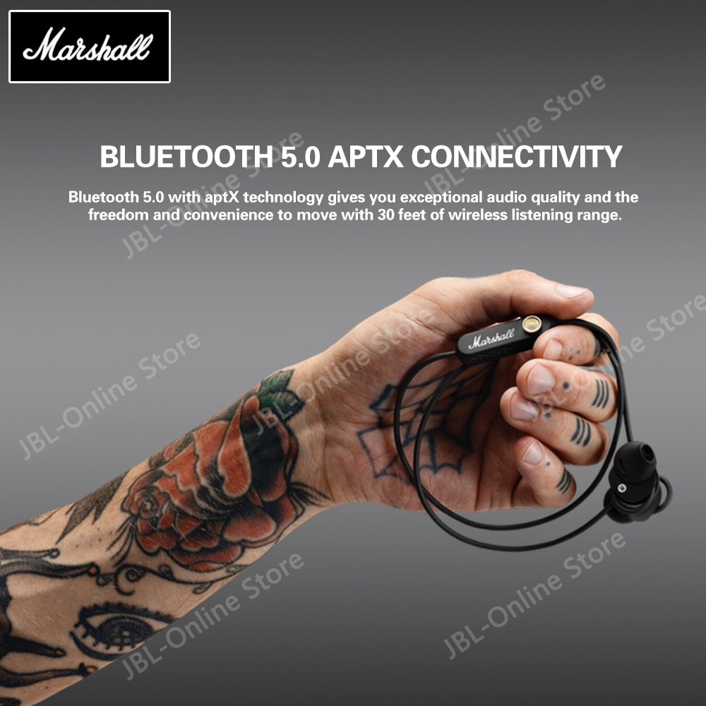 Marshall Minor II Wireless Bluetooth Earphone Pop Rock Music with Microphone Magnetic Suction Stereo Deep Bass Earbuds Headphone enlarge