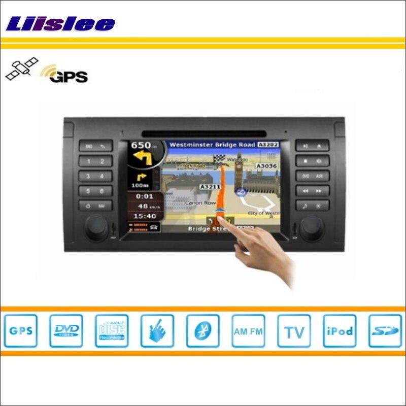 Liislee para BMW 7 E38 1994 ~ 2001 reproductor de DVD del coche GPS Navi navegación Radio Estéreo CD TV iPod BT HD pantalla S160 sistema Multimedia