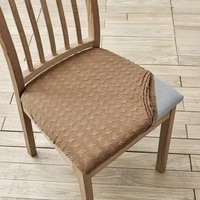 room upholstered cushion removable dining chair seat cover stretch chair seat cushion slipcover for dining room kitchen chairs