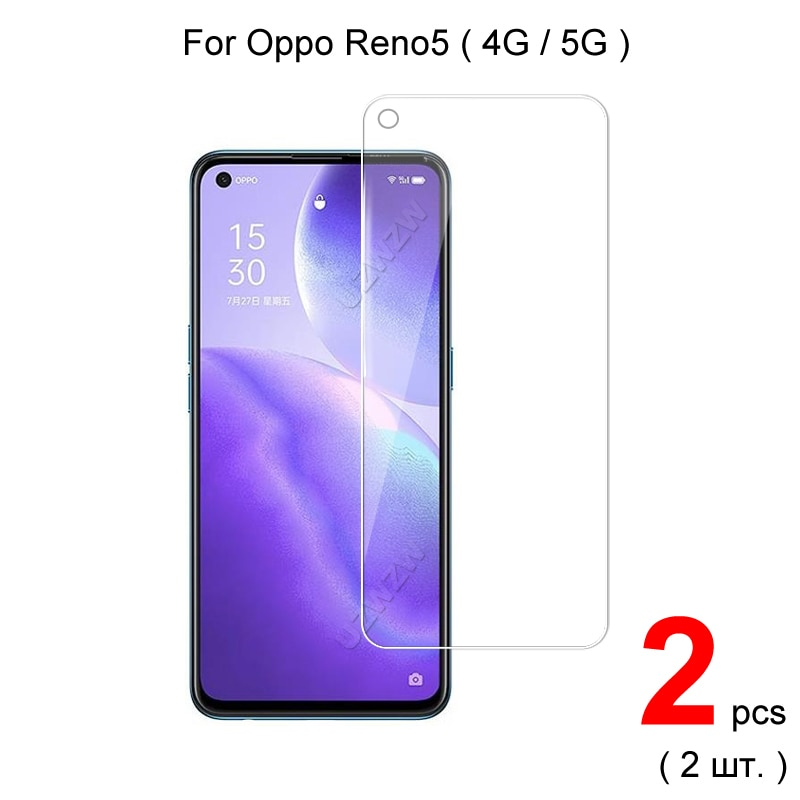 For Oppo Reno5 5G / 4G Reno 5 Explosion Proof 2.5D 0.26mm Tempered Glass Screen Protector Protective Glass Film Guard