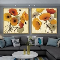 impressionist flowers canvas art paintings and wall art flowers canvas prints wall posters pumpkin poppies prints home decor