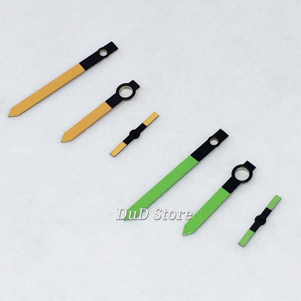 Parnis Novo Amarelo Verde Relógio Mãos Caber Eta 64976498 Seagull St36 Movimento Assista Peças