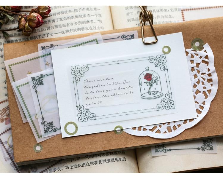 Vintage Little Prince Fashion Half Transparent Memo Paper Notes 30 Sheets 60mm*90mm