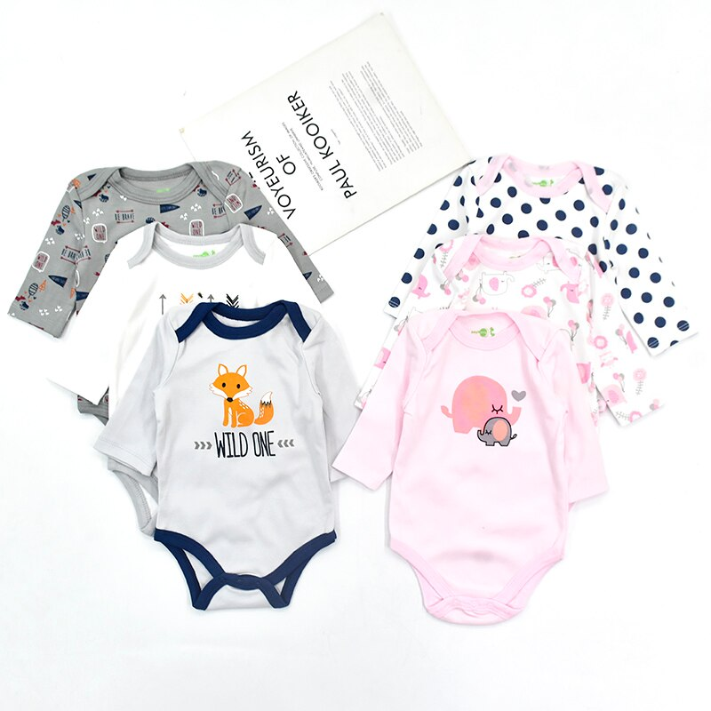 patpat 2020 spring and autumn new baby dinosaur print long sleeves 0 1 years jumpsuit one pieces baby boy clothes 3 Pieces/Lot Baby Born Clothes Girls Clothes Spring Autumn Cotton Leopard Print Baby Boy Bodysuit Newborn Jumpsuit Long Sleeve