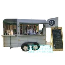 Moderno remolque móvil de comida para el aire libre/caja caballo camión de comida de negocios