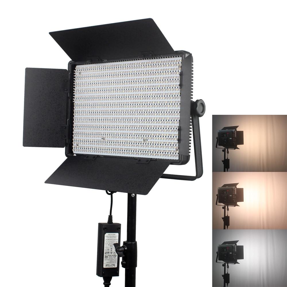 Portable 1200led LED Video Light Panel 3200K-5600K 72W LED Studio Light With V Mount Battery Plate+Light bag