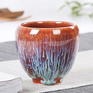 Elegant Color Glaze Ceramic Teacup Porcelain Tea Cups Traditional Skill High Temperature Firing Tea Set Chinese Drinking Tea