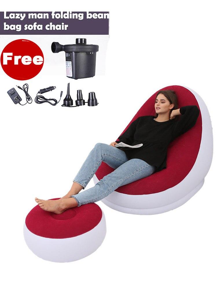 Складная мебель для гостиной и спальни, домашняя мебель с подставкой для ног, кресло для отдыха и пляжа, надувные сидения мебель для спальни складная кровать мебель для гостиной мебель для дома мебель для спальни