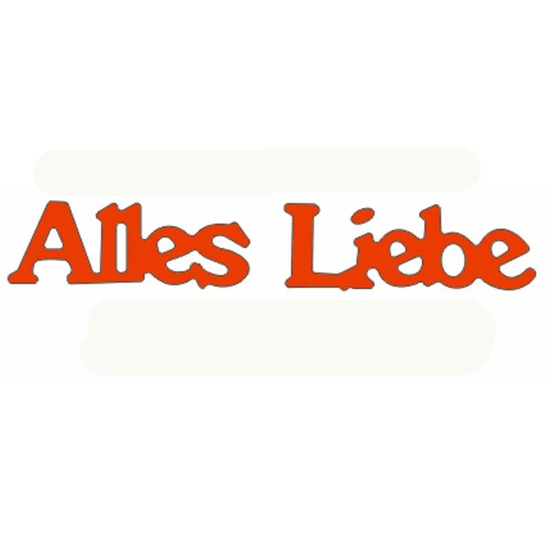 Немецкие высечки для карт Alles Liebe, немецкие штампы для скрапбукинга, металлические режущие штампы, новинка 2019