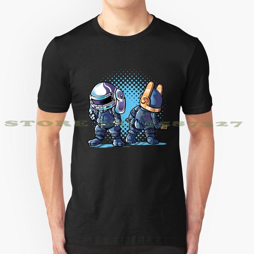 Daft Buns verano divertida camiseta para hombres mujeres Daft Punk Robot conejo Dj casa música Electro Techno electrónico