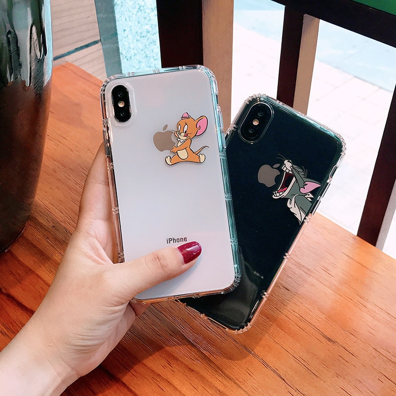 Чехол Ms Win для iphone7 8 6 11 pro Max Tom and Jerrys, мягкий чехол на заднюю панель мобильного телефона, чехол