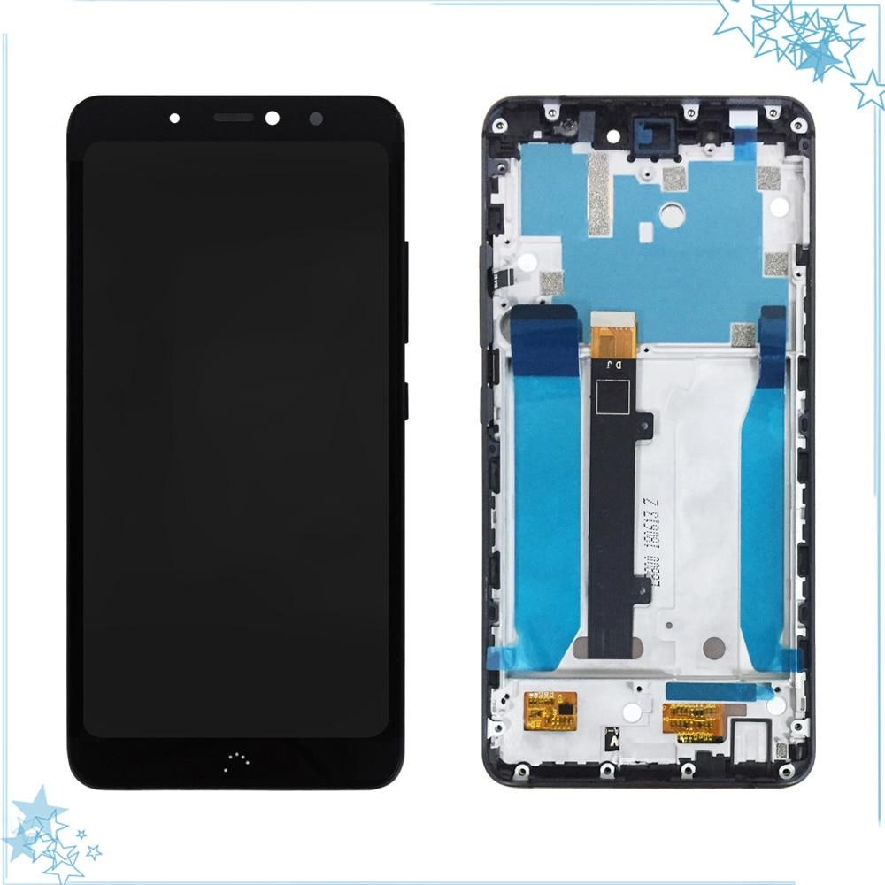 أسود/أبيض ل BQ Aquaris X2/X2 برو شاشة الكريستال السائل محول الأرقام بشاشة تعمل بلمس LCD بانتيلا Tactil مع استبدال الإطار