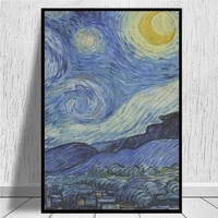 Van Gogh     toile imprimee nuit etoilee  Style a la mode  peinture artistique  affiche murale  image  Decor de maison